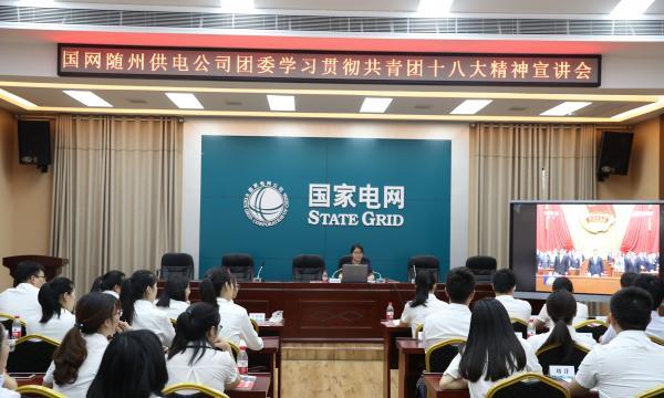 随州供电公司团委召开共青团十八大精神宣讲会
